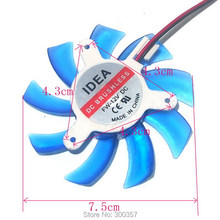 1Pcs 8cm 2pin 3holes 12V 75mm x 14mm Brushless DC Fan Graphics card Cooler Fan(China)