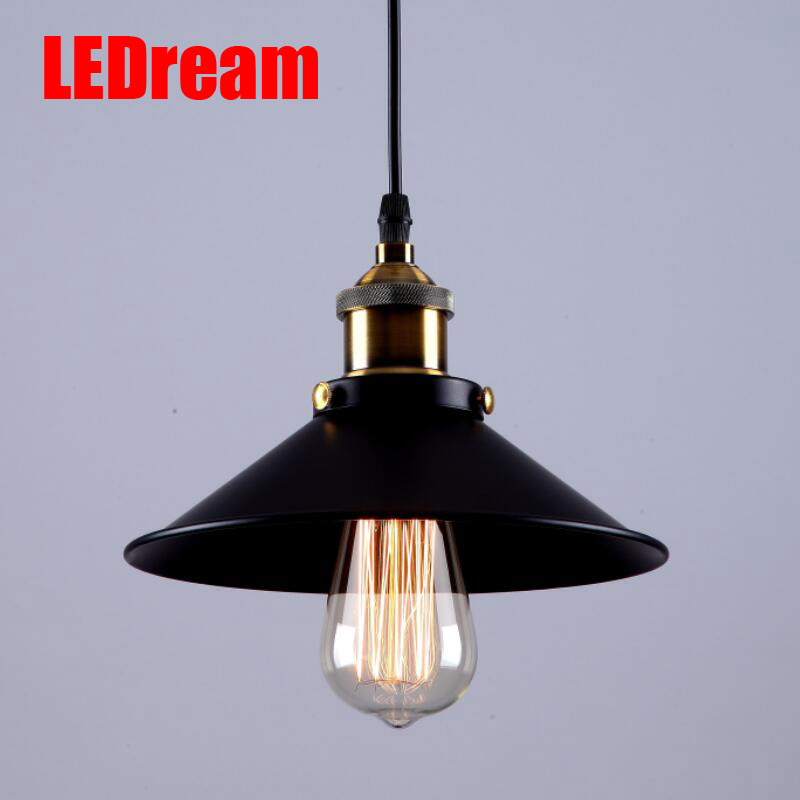 American vintage big loft screw-mount copper single head bar table pendant light<br>