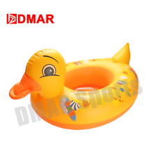 DMAR Inflatable Pool Float Yellow Duck Float Toys for Baby Kids Swimming Ring Swimming Circle Beach Sea Mattress Water