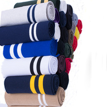 2PCS 15*80CM Strecth Stripes Pattern Knitted Rib Fabric For DIY Sewing Waistband Welt Cuffs,Neck Band,Jackets
