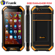 Original Runbo F1 Plus IP67 Waterproof Mobile Phone 6GB 64GB Android 7.0 Shockproof Cellphone NFC Smartphone 5.5 Inch 4G Phone(China)
