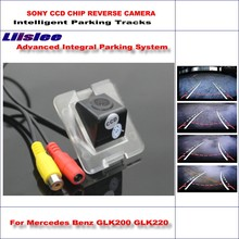 Liislee Car Reverse Rear Backup Camera For Mercedes Benz GLK200 GLK220 Intelligent Parking Tracks/ NTSC RCA AUX / Night Vision(China)