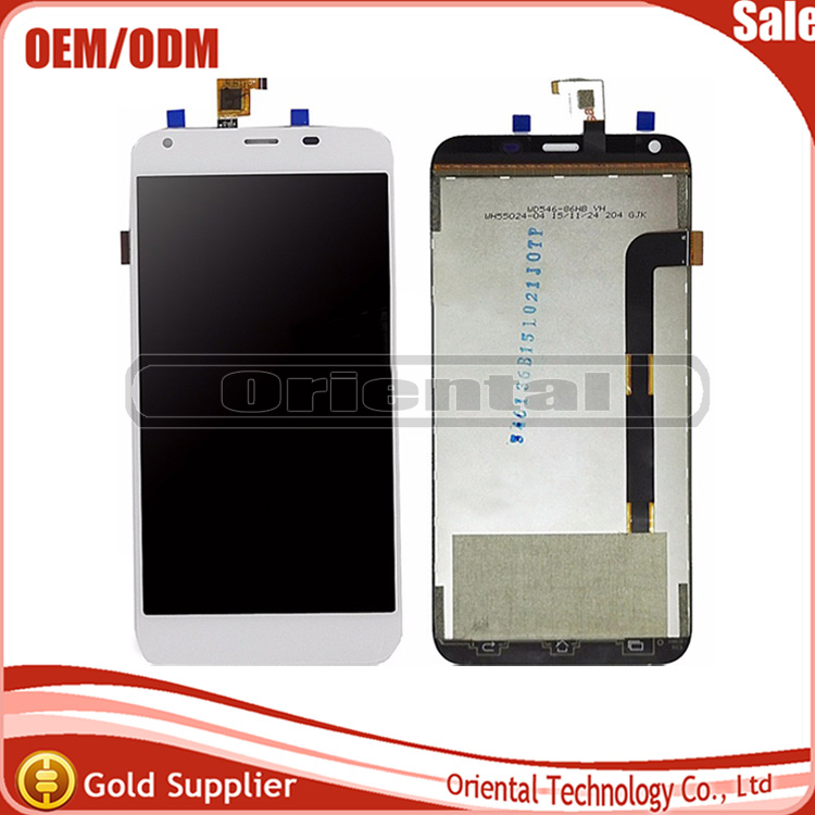 White/Black For Archos 55 Helium Plus LCD and Touch Screen Assembly Repair Parts for Archos 55 helium plus lcd screen<br>