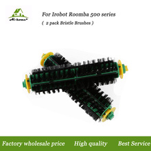 2pcs/lot, High Quality Green Cleaning Head Bristle Brush For iRobot Roomba 500 560 510 550 570 580 Vacuum Cleaner Accessories