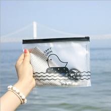 [YYYYAAAA] Creative cute chick translucent frosted pull side pouch debris lovely minimalist large capacity pencil bags  ziplock