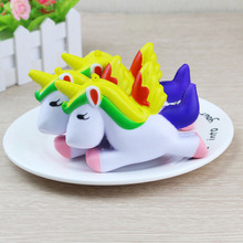 Cartoon Unicorn Jumbo Squishy Anti- Stress Toy PU Cute Funny Phone Straps Soft Squeeze Bread Cake Scented Decoration Gift Toy(China)