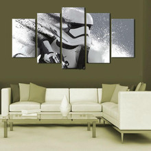 5 Panel Art Pictures HD Printed Posters Robot Gun Wall Art Decor Painting On Canvas Home House Room Office Hotel Decoration