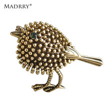 Wholesale 40% Off Vivid Antique Silver Plated Cute Birds Brooches For Women Alloy Beads Broches Lapel Pins Collar Tips Jewelry