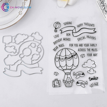CH Hot Air Balloon Carbon steel Die Cutting Dies stamps Scrapbooking Embossing Dies Cut Stencils DIY Decorative Cards Embossing(China)
