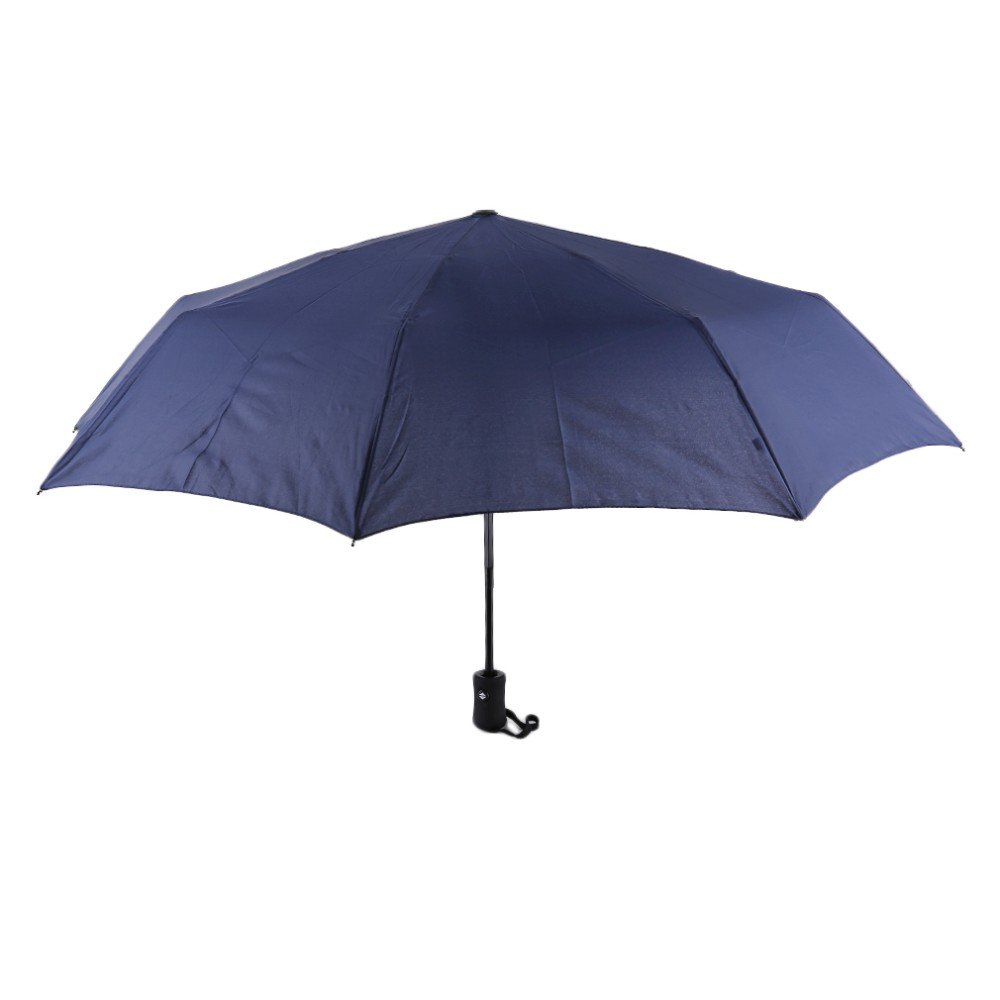 17 New 94*66cm Durable Fashionable Advanced Fully-Automatic UV-proof Three Folding Business Solid Sunshade Rain Umbrella 7