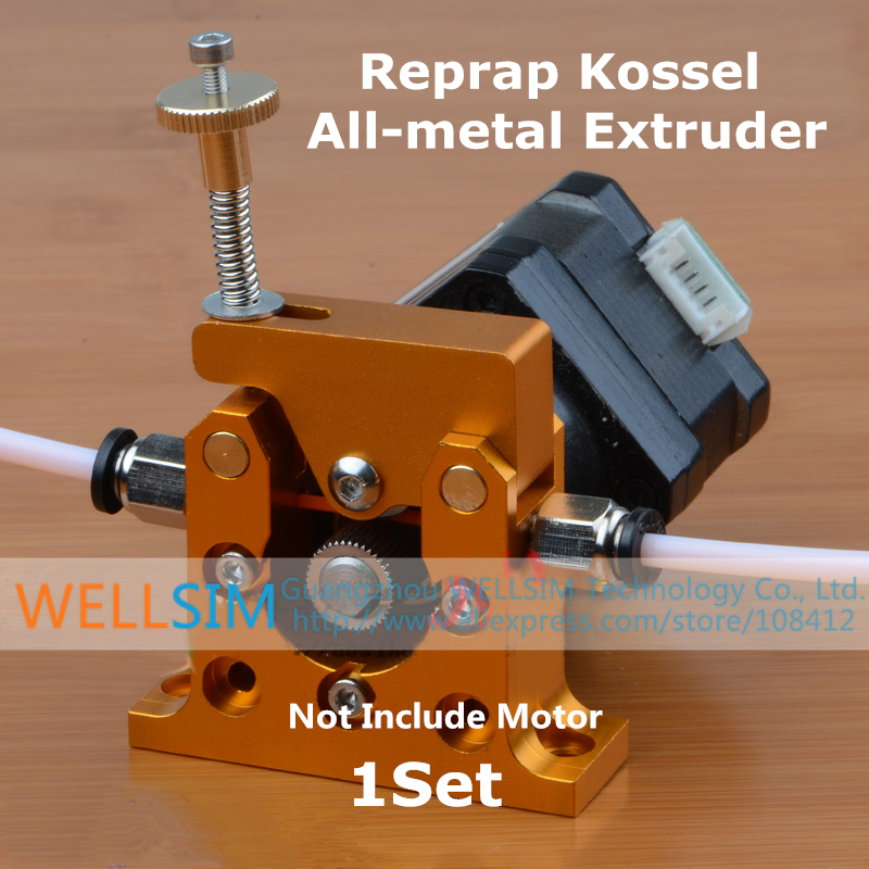 1Set DIY Reprap Kossel All-metal Remote Planet Reducer Motor Geared Bowden Extruder Alimunum alloy for 1.75mm 3mm 3D Printer<br><br>Aliexpress