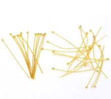 DoreenBeads Gold color Ball Head Pins 45x0.7mm(21 gauge),sold per pack of 300