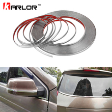 3M Car Styling Chrome Decor Strip Moulding Styling Trim Sticker 6MM 8MM 10MM 12MM 15MM 18MM 20MM 22MM 25MM 30MM Car Accessories