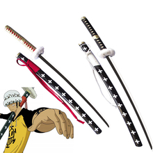 Free Shipping 41 Inch One piece Trafalgar D. Water Law Sword  Surgeon of Death Anime Cosplay Prop-Red/White