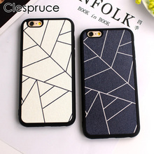 Clespruce Black White Hot fashion geometry Silk pattern TPU Soft silicone Case Cover For iphone 8 7 6 6s plus 5 5s SE back shell(China)