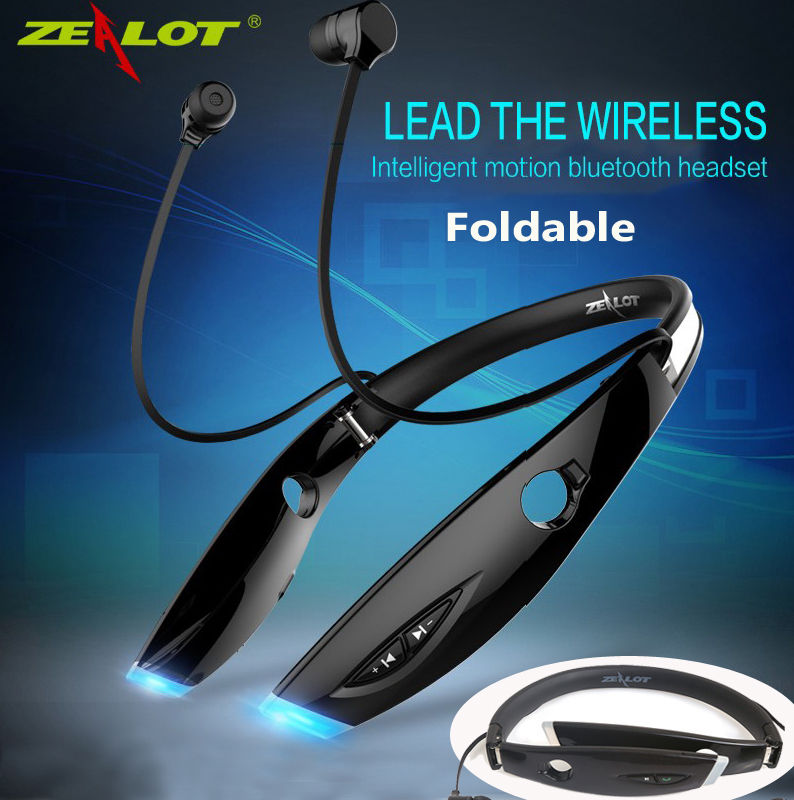 2017 Newest  Universal Water Resistant FOLDABLE Bluetooth 4.1 Stereo Wireless Headset Headphone outdoor Sports Running<br><br>Aliexpress