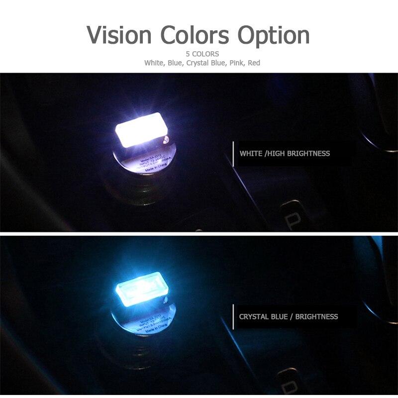 CNSUNNYLIGHT Car LED Atmosphere Lights With USB Sockets Decorative lights Interior Light Car Foot Lamp Universal Play and Plug (8)
