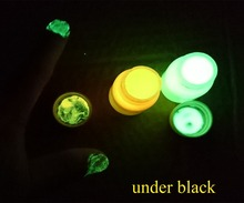 UV Blacklight Neon Fluorescent Glow in the Dark High Luminescent Face & Body Paint Kit - Set of 12, (20 ml/0.7 OZ)(China)
