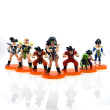 7pcs/lot Dragon Ball Z Toy Figures 28th Goku Vegeta Figure Children Collectable Toys Christmas gifts Free Shipping