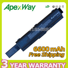 Apexway 6600mAh 9 cell Laptop Battery For Toshiba PA3534U-1BAS PA3534U-1BRS for Satellite A200 A205 A210 L300 Pro A200 L300 L500
