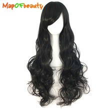 MapofBeauty long loose wave Cosplay Wigs Black Blue Brown white Pink 31 Multipl Colors 80cm 32inch Heat Resistant Synthetic hair(China)