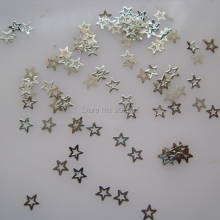 MS201-1 100pcs Silver Cute Small Star Metal Sticker Nail Art Metal Sticker Nail Art Decoration Non-adhesive Sticker