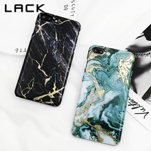 LACK Marble Hard Phone Case For iphone 7 Case Luxury ins Style Smooth Cover Art Granite Stone Cases For iphone 7 Plus Case(China)