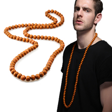 EVBEA Tibetan Beads Polished Triangle Dragon Eye Bodhi Seeds Prayer Malas Natural Wooden Man/Women Necklace Beads Necklaces(China)