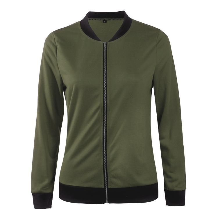 Hot Sprzedaż Jesień Tanie Ubrania Kobiet Małe Krótkie Kurtki Z Długim Rękawem Zipper Fly Outwear Kurtki Płaszcze Slim Cienkie Stylu topy Coat 7