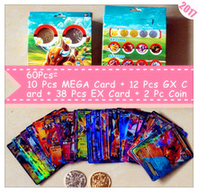 2017 New EX &GX &MEGA Cards Action Figure Game Collection Card English XY Sun Moon TCG : 60Pcs Anime Trading Cards Kids Gift Toy