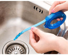 Plastic Mini Snake Drain Opener Elastic Sewer Hair Cleaner Home Plumbing Tool(China)