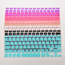 1* 28.7cm x 11.9cm Colorful Silicone Keyboard Cover Sticker For Macbook Air 13 Pro 13 15 17 Protector Sticker Film
