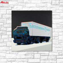large wall art Truck Oil Painting Wall Art Picture Paiting Canvas Paints Home Decor Abstract Print Painting Modern Wall Decor 2(China)