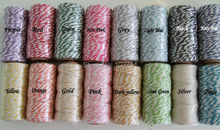12ply Baker's Twine, Black ,Red,Pink, Gold,Silver, Blue,22 Yards /spool, 40 meters = 2 spool Cotton baker twine Ready to ship.(China)