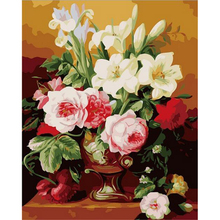 DIY Modular pictures Paint By Numbers Digital Oil Painting On Canvas handwork gift set of flower and apple 40X50CM w148