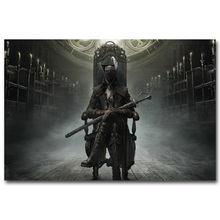 NICOLESHENTING Bloodborne 1 2 Art Silk Fabric Poster Huge Print Print 13x20 32x48inch Game Wall Picture Room Decoration 009