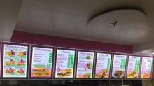 High Quality A3 Take Away Wall Mounted Acrylic Frame LED Illuminated Menu Light Boxes for Restaurant / Fast Food Shop