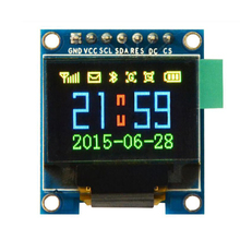 0.95 inch full color OLED Display module with 96x64 Resolution,SPI,Parallel Interface,SSD1331 Controller 7PIN new(China)
