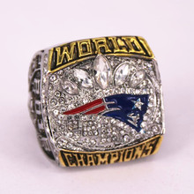 US size 7 to 15! 2016 New England Patriots super bowl 51 world championship rings replica BRADY engraving inside drop shipping(China)