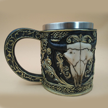 New Stainless Steel Coffee Mugs 3D Skull Mugs Cow Tankard Dragon Cups And Mugs Monster Goblet Unique Drinkware