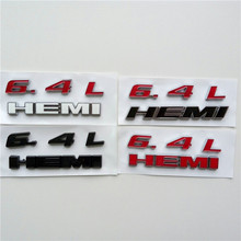 10x  Car 3D 6.4L HEMI Rear Letter Emblem Badge Sticker For Dodge Jeep SRT8 Hemi Logo Red Black White Styling Trunk Decal