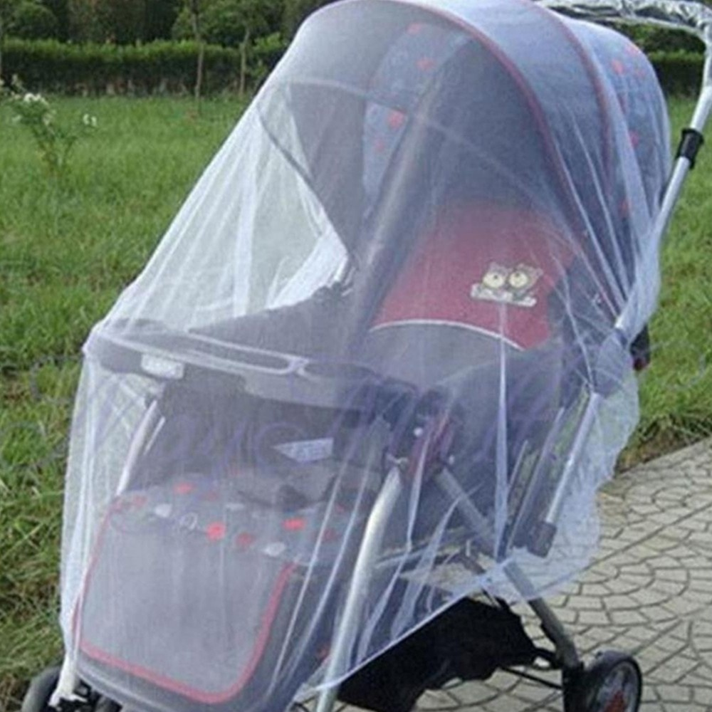 150cm Summer Baby Stroller Mosquito Net Insect Shield Safe Protection Net Outdoor Pushchair Stroller Accessories (8)