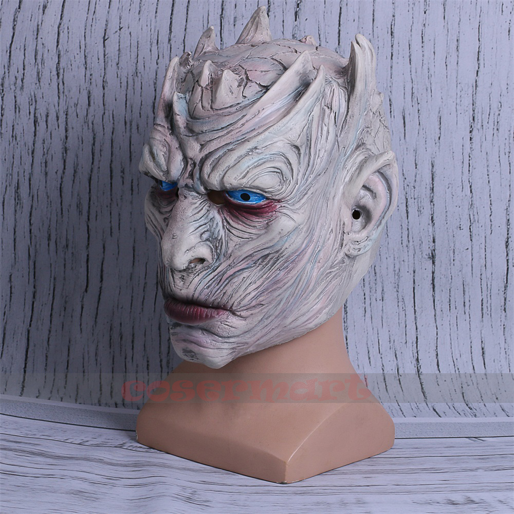 Cosplay Game of Thrones Night's King Walker Face NIGHT RE Zombie Halloween Mask For Adults Throne Costume Party Accessory