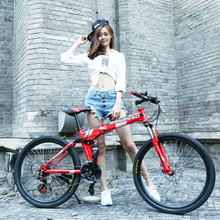 24 inch &26 inch*21 speed Folding Mountain bicycle light men's and women's Folding bike Cheap and quality mountain folding bike.