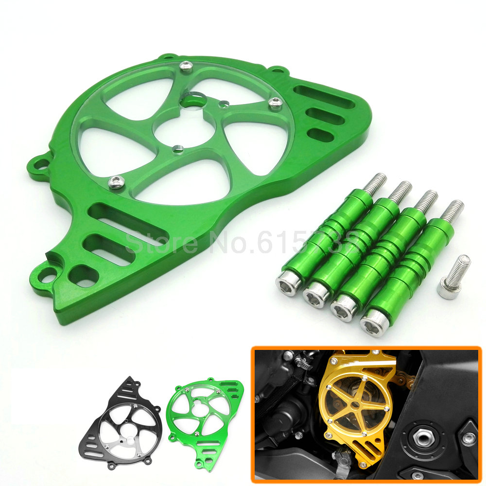 Motorbike CNC Aluminum Front Sprocket Chain Guard Cover Left Side Engine protection cover For Kawasaki Z1000 2010-2016<br><br>Aliexpress