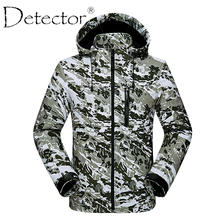 Detector Men Windproof Waterproof Breathable Thermal Softshell Jacket Outdoor Hunting Fishing Camping Hiking Jacket