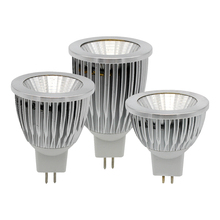 High Quality MR16 AC / DC 12V 9W 12W 15W LED COB Spotlight Dimmable Light Aluminum Bulb For Chandeliers Replace Halogen Lamp