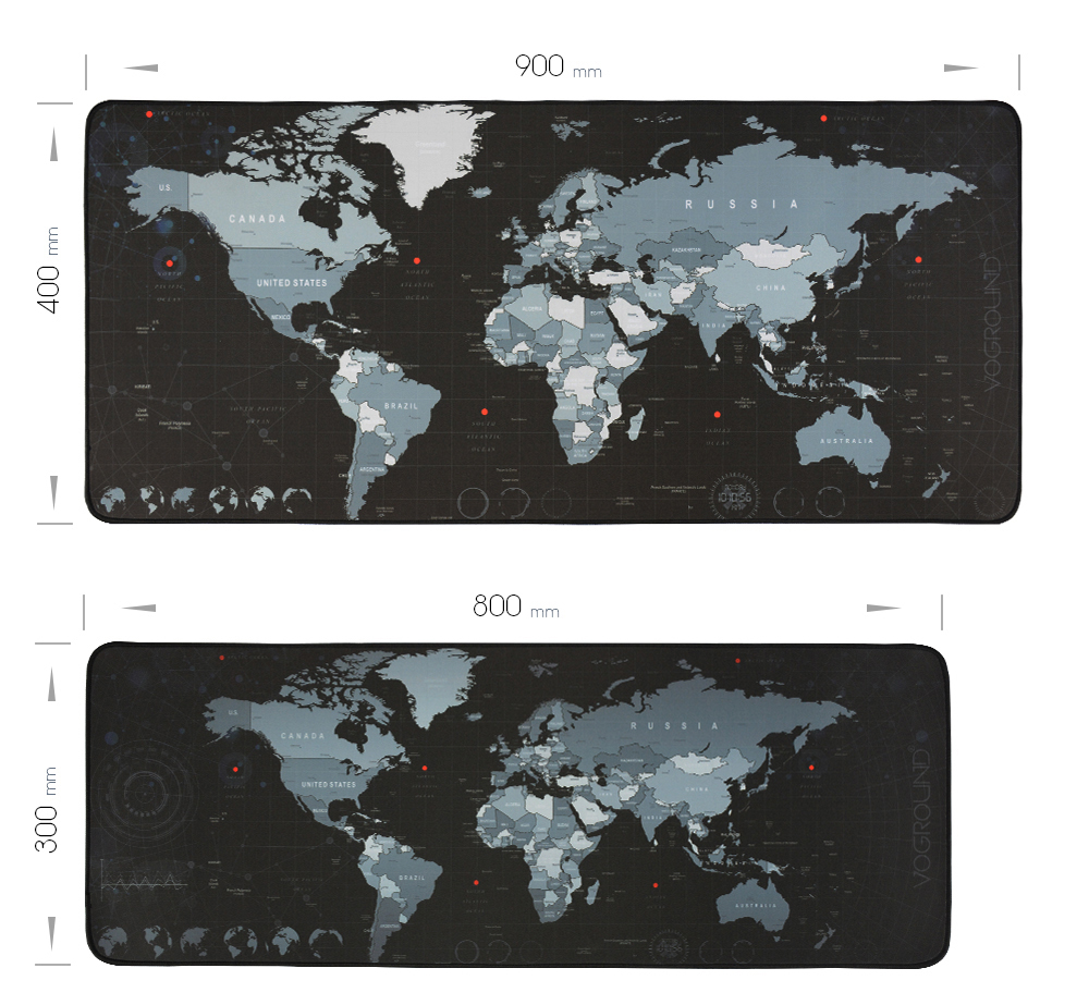 VOGROUND New World Map Mouse Pad Large Pad for Macbook Laptop Mouse Notbook Computer Creative Rubber Mat Gaming Mousepad For LOL