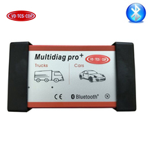 SALE! Multidiag pro+ with bluetooth obd2 diagnostic tool as vd tcs CDP pro wow snooper +install video for cars and trucks 3in1