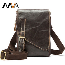 MVA Leather Waist Bag Belt Genuine Leather Men Bag Men Messenger Bags Small Travel Money Pack Shoulder Crossbody Bags Waist Pack